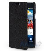 Чехол Melkco Face Cover Jacka leather case for Samsung Galaxy S II Plus I9105 Black (SS9100LCFB2BKLC)