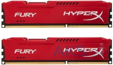 Оперативная память Kingston DDR3 8Gb (2x4GB) 1866 MHz HyperX Fury Red (HX318C10FRK2/8)