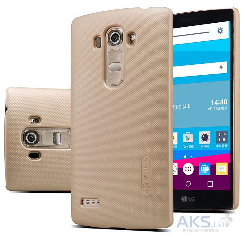 Чехол Nillkin Super Frosted Shield LG Optimus G4S H734, G4S H736 Dual Gold