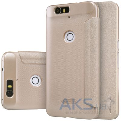 Чехол Nillkin Sparkle Leather Series Huawei Nexus 6P Gold