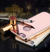 Вид 2 - Чехол Rock Infinite Mirror Series Apple iPhone 6 Plus, iPhone 6S Plus Rose Gold