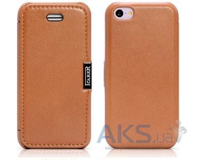 Чехол iCarer Luxury Series Flip Case for iPhone 5C Brown (RIP521BR)