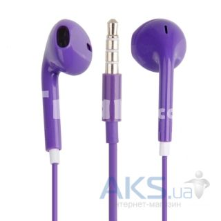Гарнитура для телефона Apple EarPods with Remote and Mic (MD827) High Copy Purple