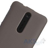 Вид 2 - Чехол Nillkin Super Frosted Shield Nokia Asha 501 Brown