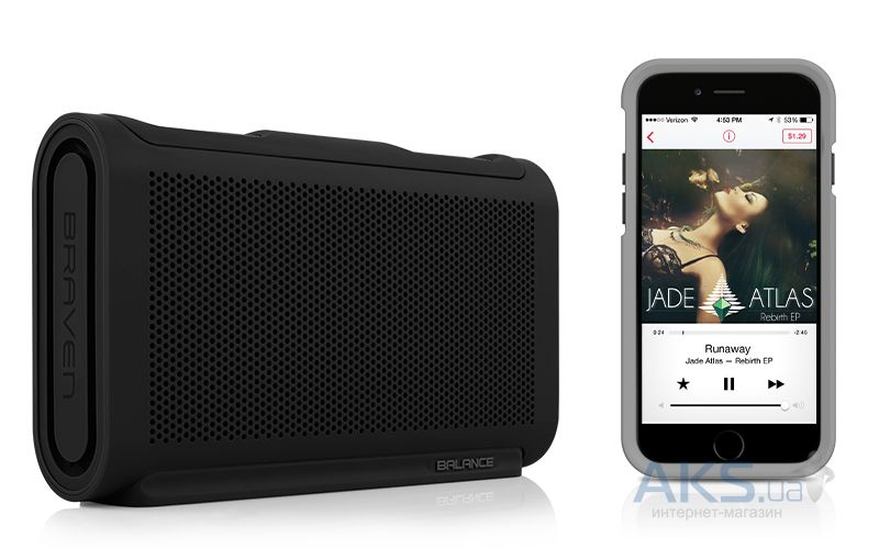 Колонки акустические BRAVEN Balance Portable Bluetooth Speaker Black/Black/Black