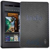 3ащитныя плeнкa SGP Premium Protective Cover Skin Leather Deep  Amazon Kindle Fire Carbon (SGP08491)
