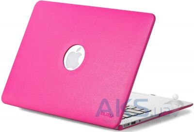 Чехол Kuzy Leather Case for MacBook Air 13 Neon Pink