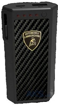 Внешний аккумулятор power bank Remax Powerbox Lamborghini Carbon Fiber 5200 mAh Black