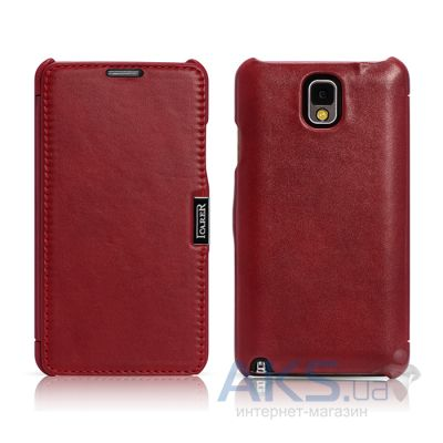 Чехол iCarer Side Open Luxury for Samsung N9000 Galaxy Note 3 Red