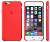 Чехол Apple Silicone Case iPhone 6S PRODUCT RED (MKY32)