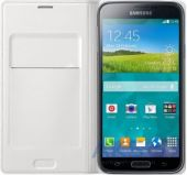 Вид 2 - Чехол Samsung Flip Wallet Cover для Galaxy S5 White (EF-WG900BWEG)