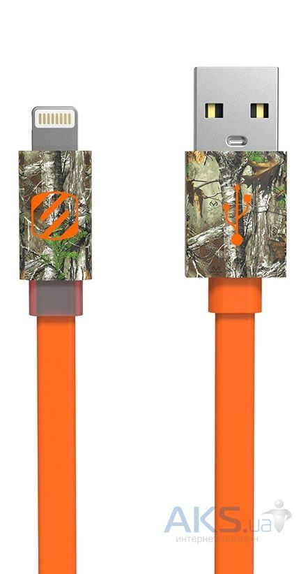 Кабель USB Scosche FlatOut™ LED Realtree® Lightning (Protected) Orange (I3FLEDRT)