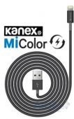 Вид 2 - Кабель USB KANEX MiColor USB cable to Lightning Connector Black (K8PIN4FB)