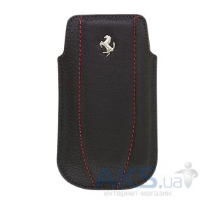 Чехол CG Mobile Ferrari Leather Sleeve Case FF Collection Black/Red for iPhone 4/4S (FEMOIPBLR)