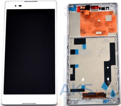 Дисплей (экран) для телефона Sony Xperia T2 Ultra D5303, Xperia T2 Ultra Dual D5322 + with frame Touchscreen Original White