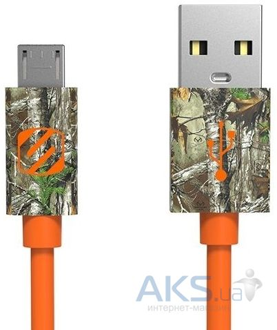 Кабель USB Scosche sleekSYNC™ Realtree® Micro USB (Realtree Xtra) Orange (MRT)