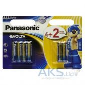 Батарейки Panasonic AAA (R03) Evolta 6шт (LR03EGE/6B2F)