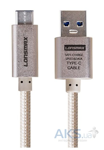 Кабель USB GOLF Metal Braided Type-C Gold Cable (USB 3.0)