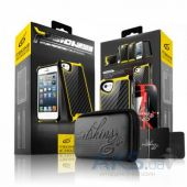 Вид 4 - Чехол ITSkins Fusion Carbon Core for iPhone 5/5S Yellow (APH5-FUSCA-BKYL)