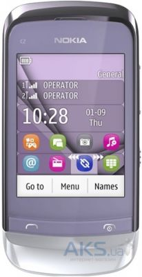 Сенсор (тачскрин) для Nokia C2-02, C2-03, C2-06, C2-07, C2-08 with frame Original Purple