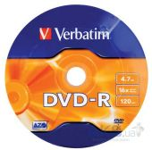 Диск Verbatim DVD-R  4.7Gb 16X CakeBox 1шт (43523)