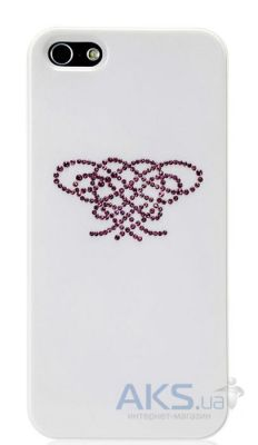 Чехол Star5 Pure Love Series Hearts Knot Apple iPhone 5, iPhone 5S, iPhone 5SE White (with Swarovski)