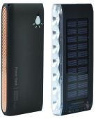 Внешний аккумулятор power bank MANGO Solar LED SIDE 2USB 10000 mAh Black-gold
