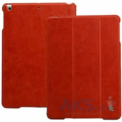 Чехол для планшета JisonCase Vintage Leather Smart Case for iPad Air Red [JS-ID5-01A30]