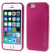 Чехол Mercury TPU Jelly Metal Series Apple iPhone 5, iPhone 5S Crimson