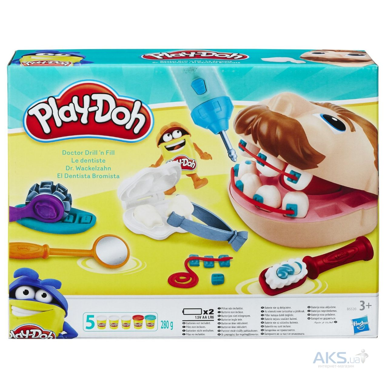 "Игра Hasbro Play-Doh ""Мистер Зубастик"" (версия 2016) (B5520)"
