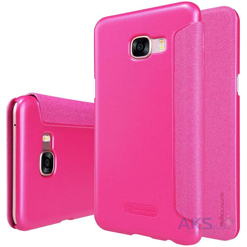 Чехол Nillkin Sparkle Leather Series Samsung Galaxy C5 Pink
