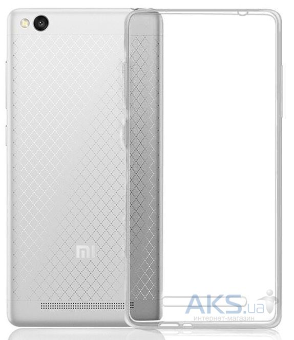 Чехол MSVII TPU Series Xiaomi Redmi 3 +Tempered Glass Gray