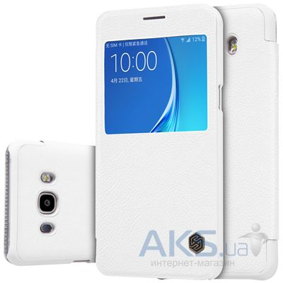 Чехол Nillkin Qin Leather Series Samsung J710 Galaxy J7 2016 White