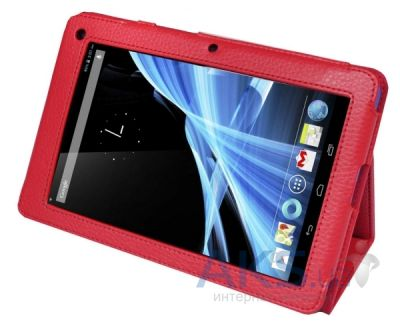 Чехол для планшета TTX Leatherette case для Acer B1 A71 Iconia Tab Red