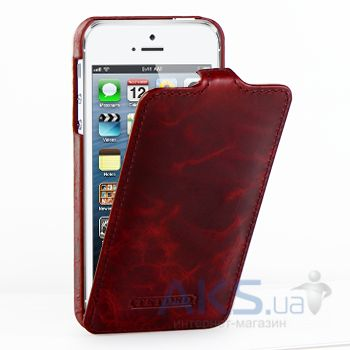 Чехол TETDED Flip Lava Series Apple iPhone 5, iPhone 5S, iPhone SE Burgundy Red
