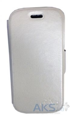 Чехол Grand Book case for Samsung G130 White