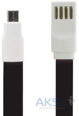 Кабель USB Gelius Gold Edition Flat MicroUSB Black