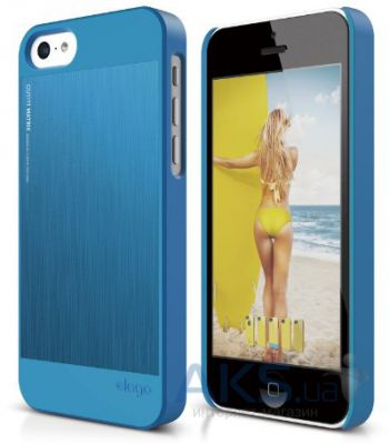 Чехол Elago Outfit MATRIX Aluminum Case For iPhone 5C blue