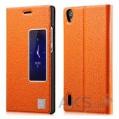 Чехол Xoomz Litchi Pattern Leather для Huawei Ascend P7 Orange