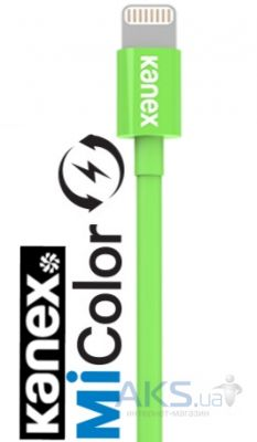 Кабель USB KANEX MiColor USB cable to Lightning Connector Green (K8PIN4FGN)