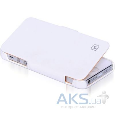 Чехол Hoco Duke Leather Series Apple iPhone 5, iPhone 5S, iPhone SE White (HI-L012)