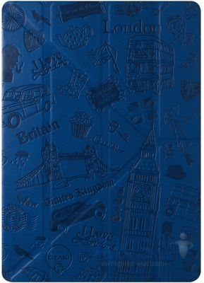 Чехол для планшета Ozaki O!coat-Travel London  for iPad Air/iPad Air 2 Dark Blue (OC111LD*)