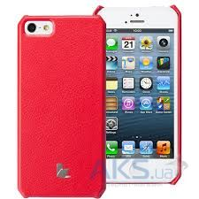 Чехол JisonCase Fashion Wallet Case for iPhone 5/5S Red (JS-IP5-01H30)