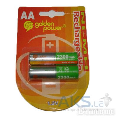 Элемент питания Golden Power AA (R6) 2300mAh NiMH 1шт
