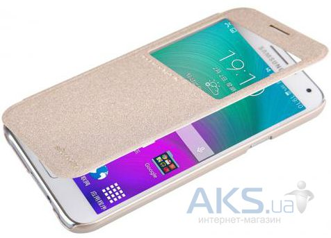 Чехол Nillkin Sparkle Leather Series Samsung E500 Galaxy E5 Gold