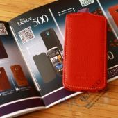 Вид 3 - Чехол TETDED Leather Flip series HTC Desire 500 Red