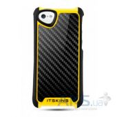 Чехол ITSkins Fusion Carbon Core for iPhone 5/5S Yellow (APH5-FUSCA-BKYL)