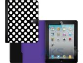 Вид 4 - Чехол для планшета Griffin Back Bay Folio Apple iPad Air Polka Black/White/Purple (GB37899)