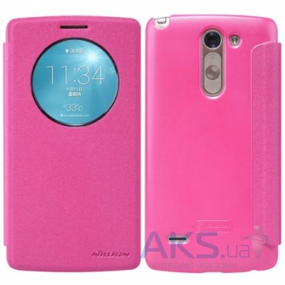 Чехол Nillkin Sparkle Leather Series LG Optimus G3 Stylus D690 Pink