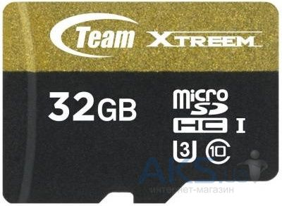 Карта памяти Team 32 GB microSDHC UHS-I U3 + SD Adapter TUSDH32GU303